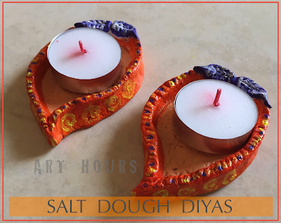 Handmade Diyas from Salt Dough Budget friendly Diwali DIY