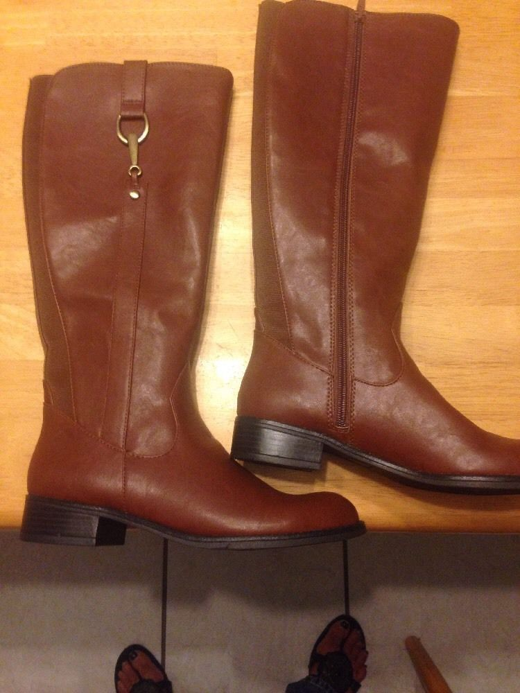 NWT Life Stride Cedar Kraft Sikora Knee High Brown Riding Boots Size 7M