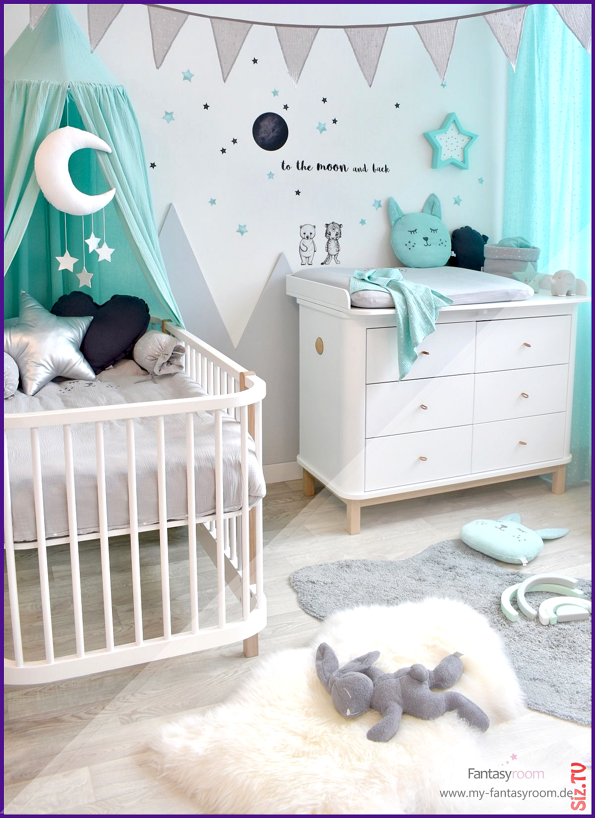 Baby Room With Mountains In Mint 038 Gray Buy Online At