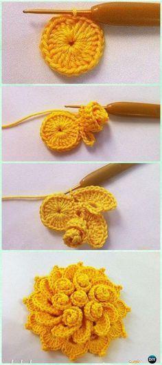 """3//4/"""" Cute Handmade Crochet Flower Appliques x 80 White for Baby//Dolls"""