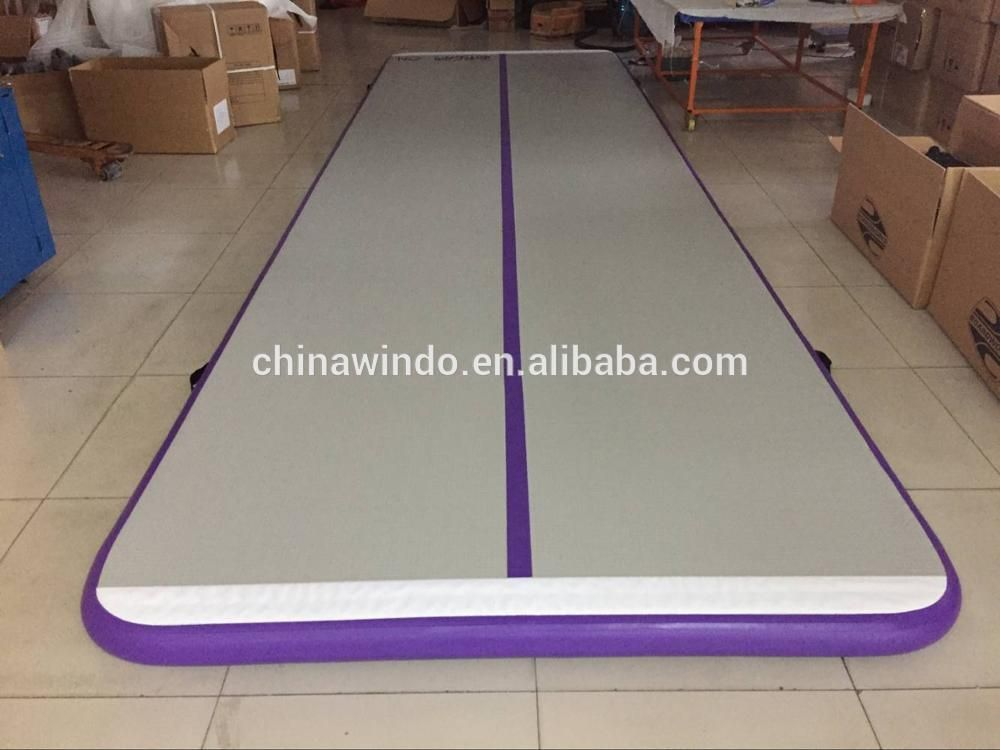 Purple Color Inflatable Tumbling Mat Used Tumble Tracks For Sale