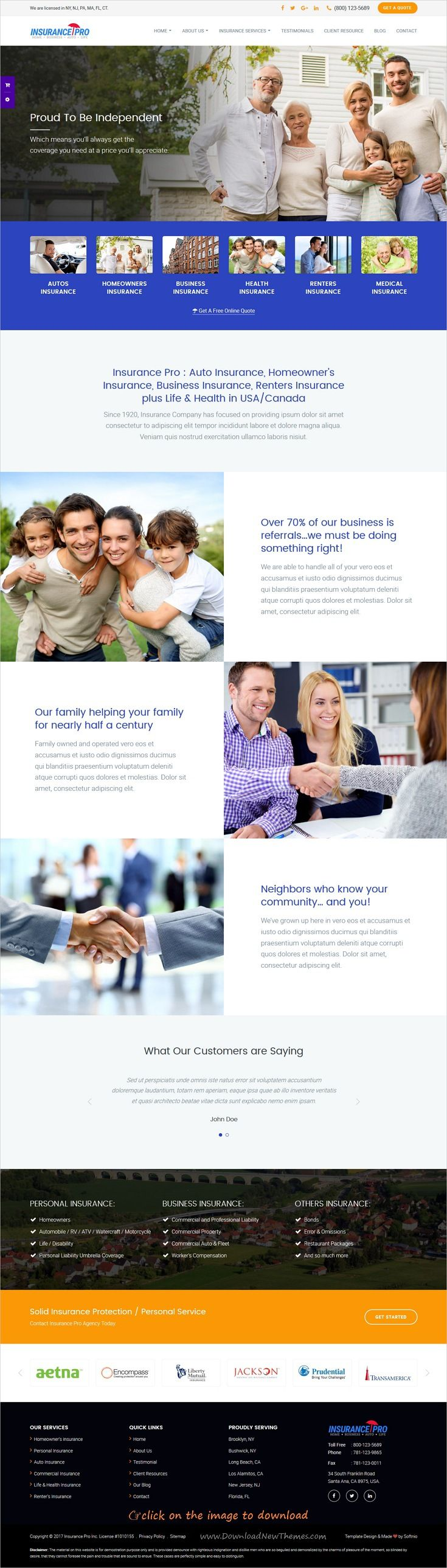 Insurify - Ultimate Template for Insurance Agency ...