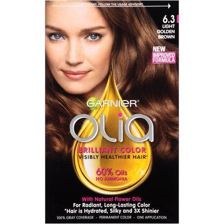 Garnier Olia Oil Powered Permanent Hair Color, 6.3 Light Golden Brown, 1 kit   Walmart.com Gallery