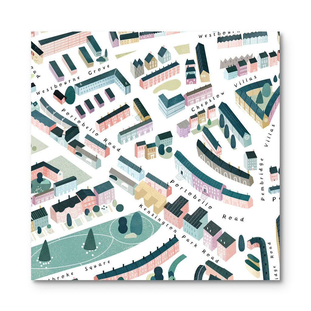 Notting Hill Map by Clare Owen for Walk With Me