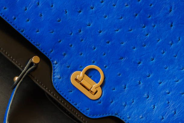 texture of genuine leather closeup with embossed under the skin of