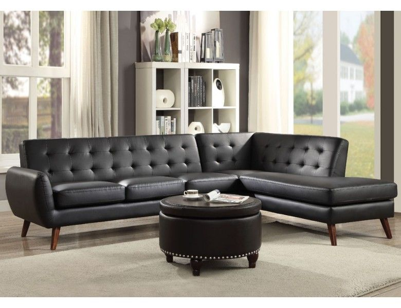 Odell Mid-Century Modern Sectional | Living Room Furniture ...