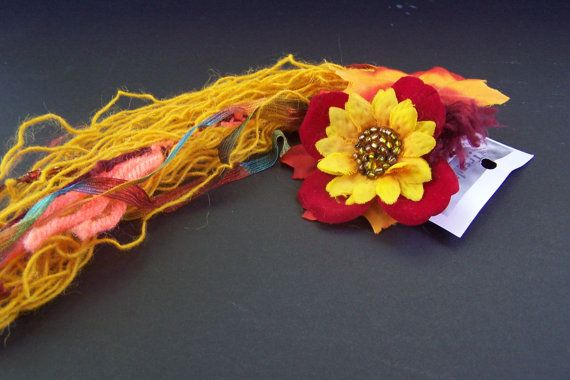Summer's last bloom hair fall by tribaltrends on Etsy, $25.00