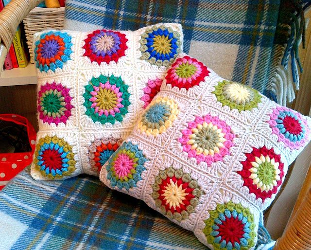 Labores en Red: 1668.- Patrones de ganchillo: Sunburst granny square ...