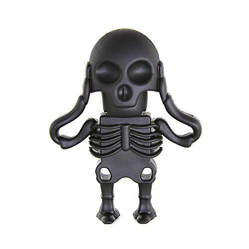 Introducing Usbkingdom 16gb Usb 20 Flash Drive Cartoon Black Skull Skeleton Shape Flash Drive Memory Stick Pendrive Us Memory Stick Usb Flash Drive Flash Drive