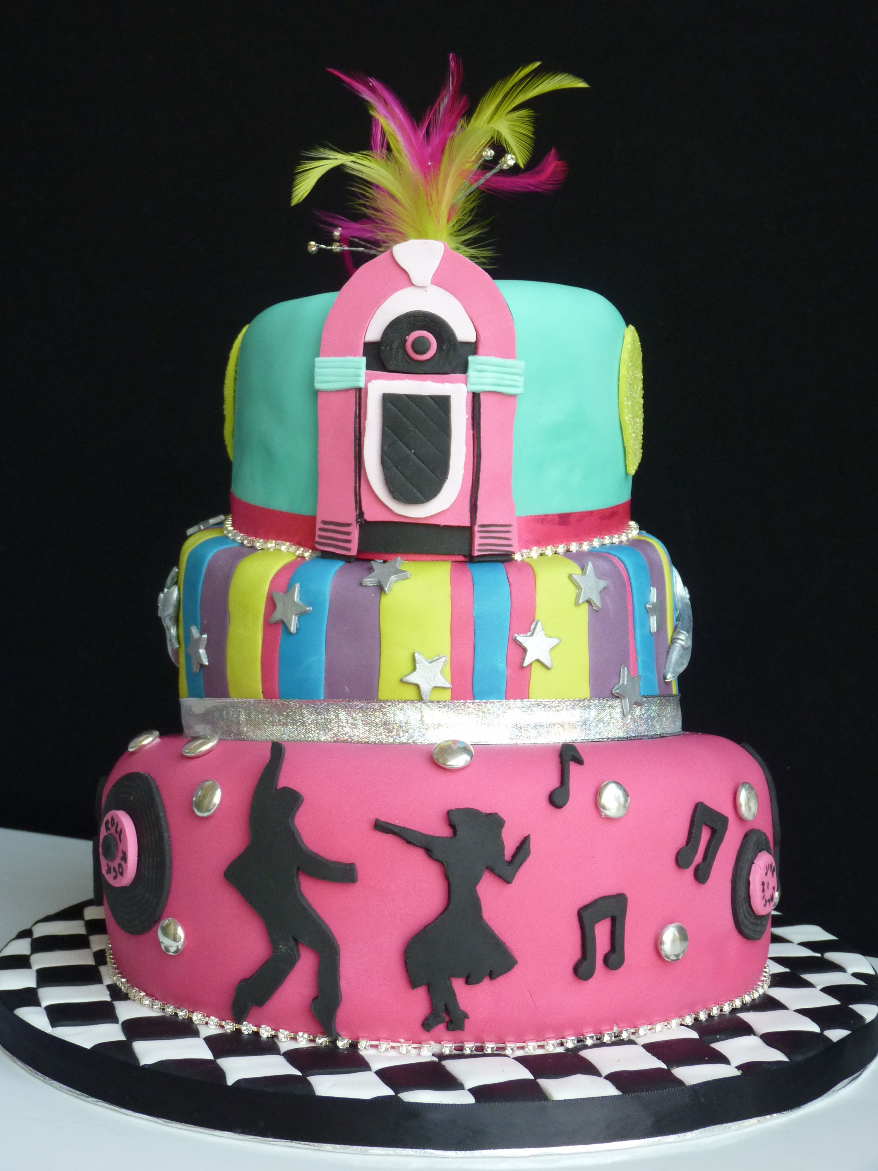 A Jiving 60th Wonky Topsy Turvy Cake Cakes That I Ve Made