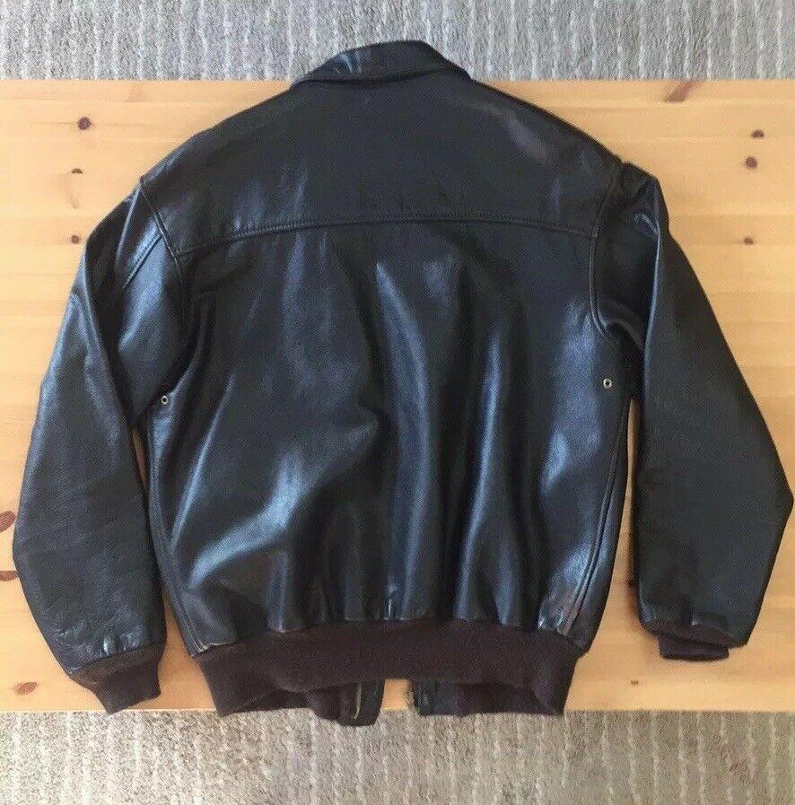 Avirex A2 Leather Flight Jacket Size 40 L eBay