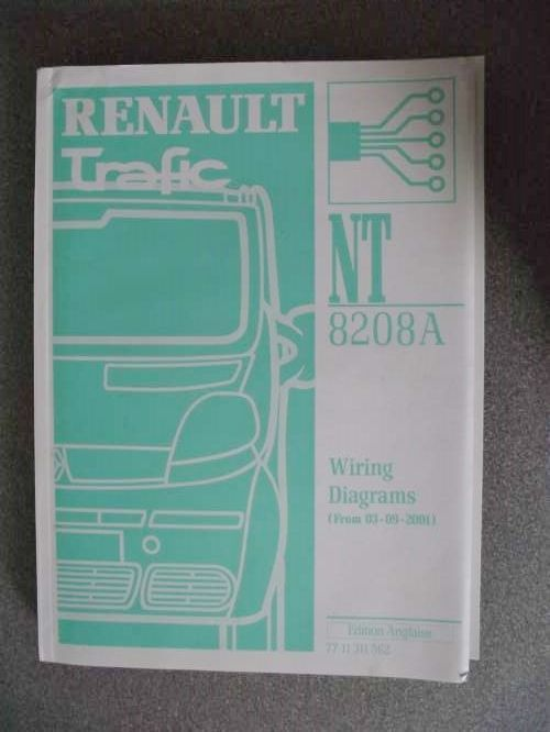 Renault Trafic Wiring Diagrams Manual 2002 7711311562 NT8208A ...