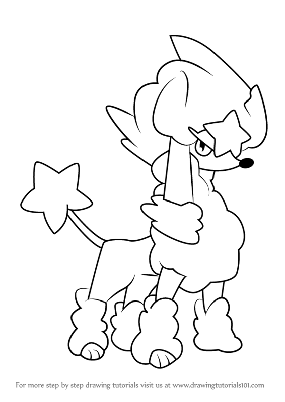 How to draw furfrou star style from pokemon - Apprendre a dessiner pokemon ...