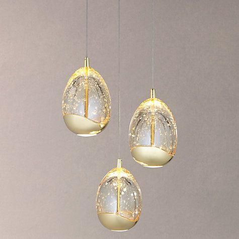 Bathroom Light Fixtures John Lewis buy john lewis 3 droplet led pendant ceiling light online at