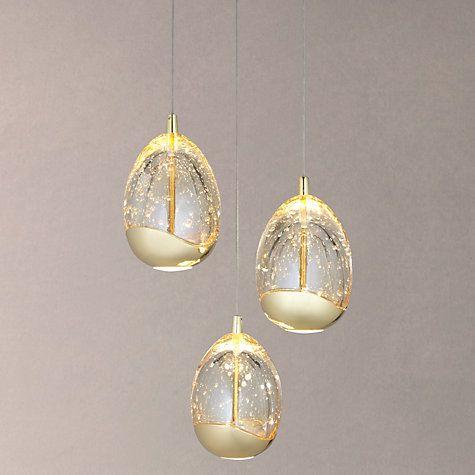 Bathroom Light Fixtures John Lewis buy john lewis 3 droplet led pendant ceiling light online at