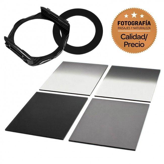 Kit Porte-filtres type P + 4 filtres ND Carrés pour Fujifilm X100F