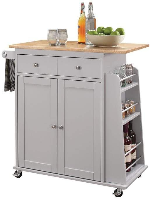 Alcott Hill Brecht Contemporary Kitchen Cart in 2019 ...