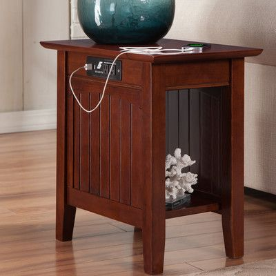 three posts orangetown side table with charging station & reviews