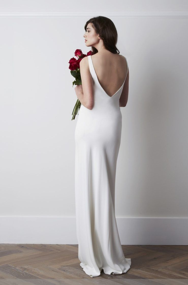 Wedding dresses for broad shoulders  Charlie Brear Torum is available to order from Leonie Claire in Hove