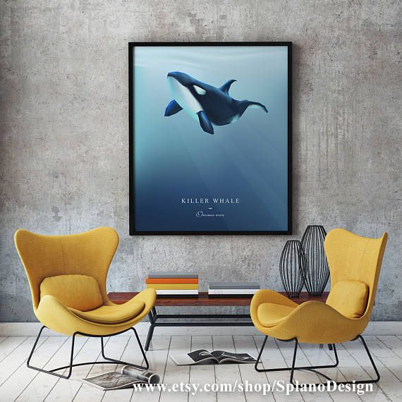 Killer whale modern wall art orca whale wall decor print or canvas killer whale modern wall art orca whale wall decor print or canvas nautical room ppazfo