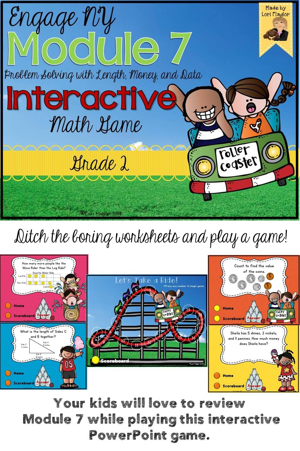 Engage NY Grade 2 Module 7 Interactive Math Game | My TPT