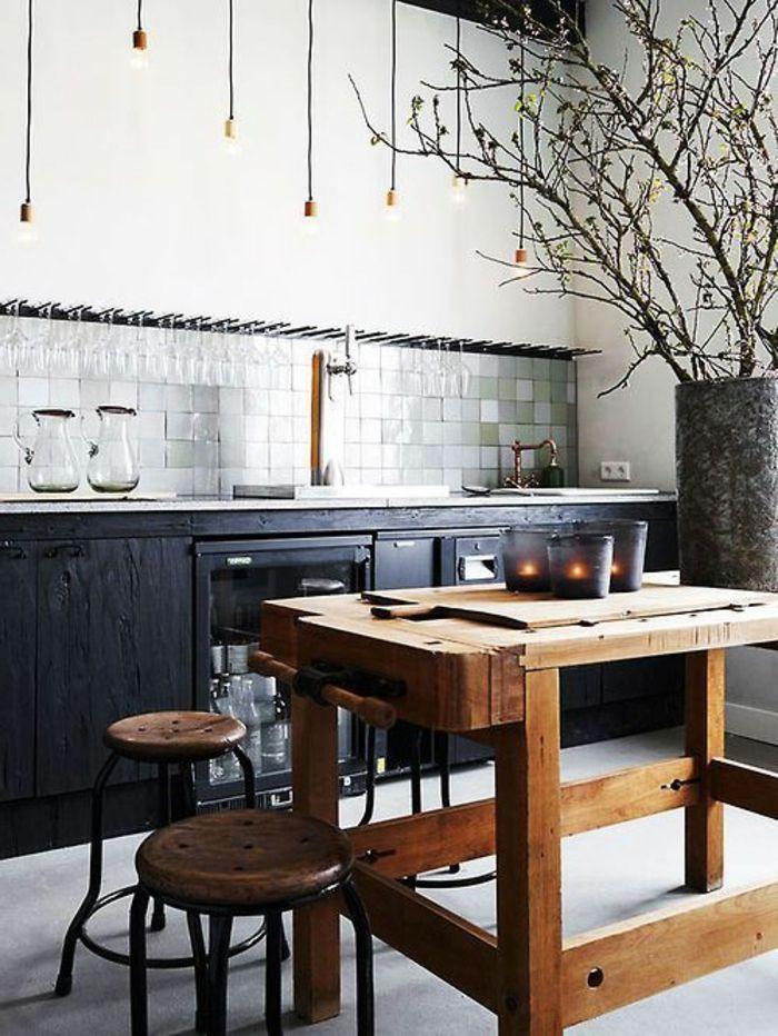 kleine küche mit kochinsel - zwei runde stühle Küche Pinterest - kleine küche mit kochinsel