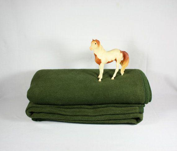 Woolrich Olive Green Camp Style Blanket by vintagefindsetcetera, $50.00