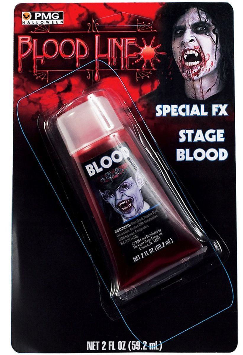 2 Fluid Ounces Fake Stage Blood Costume Makeup Kit (With