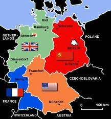 Map Of Germany Occupation Zones.Allied Occupation Zones Of Germany After Ww2 1945 1949 A World