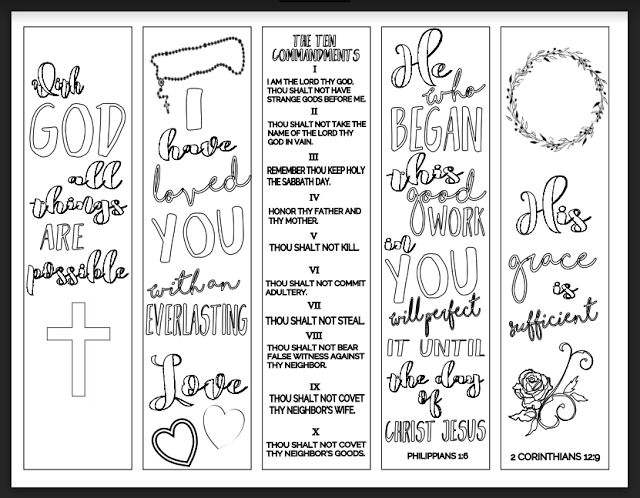 Christian Study Tools And Art Free Bookmarks