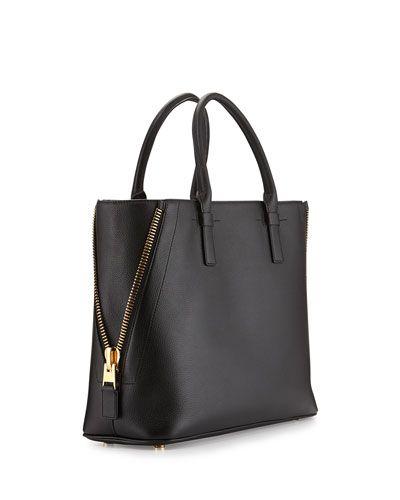 92d17de08ba Jennifer Medium Trap Calfskin Tote Bag Black | My Style | Bags, Tom ...