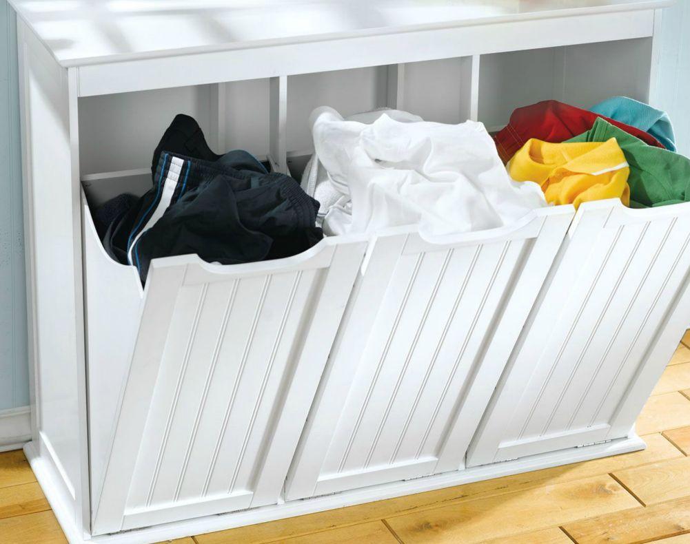 Cesto de roupa suja embutido 4 cestos  F o t o s  Pinterest  Cesto de rou -> Armario De Banheiro Com Cesto De Roupa Suja
