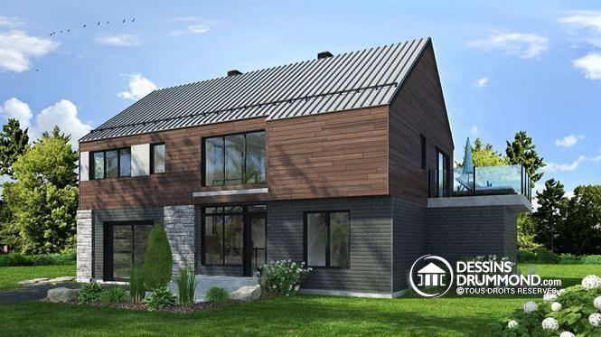 W3891 - Maison aux planchers inversés, chambres au rez-de-chaussée - liste materiaux construction maison