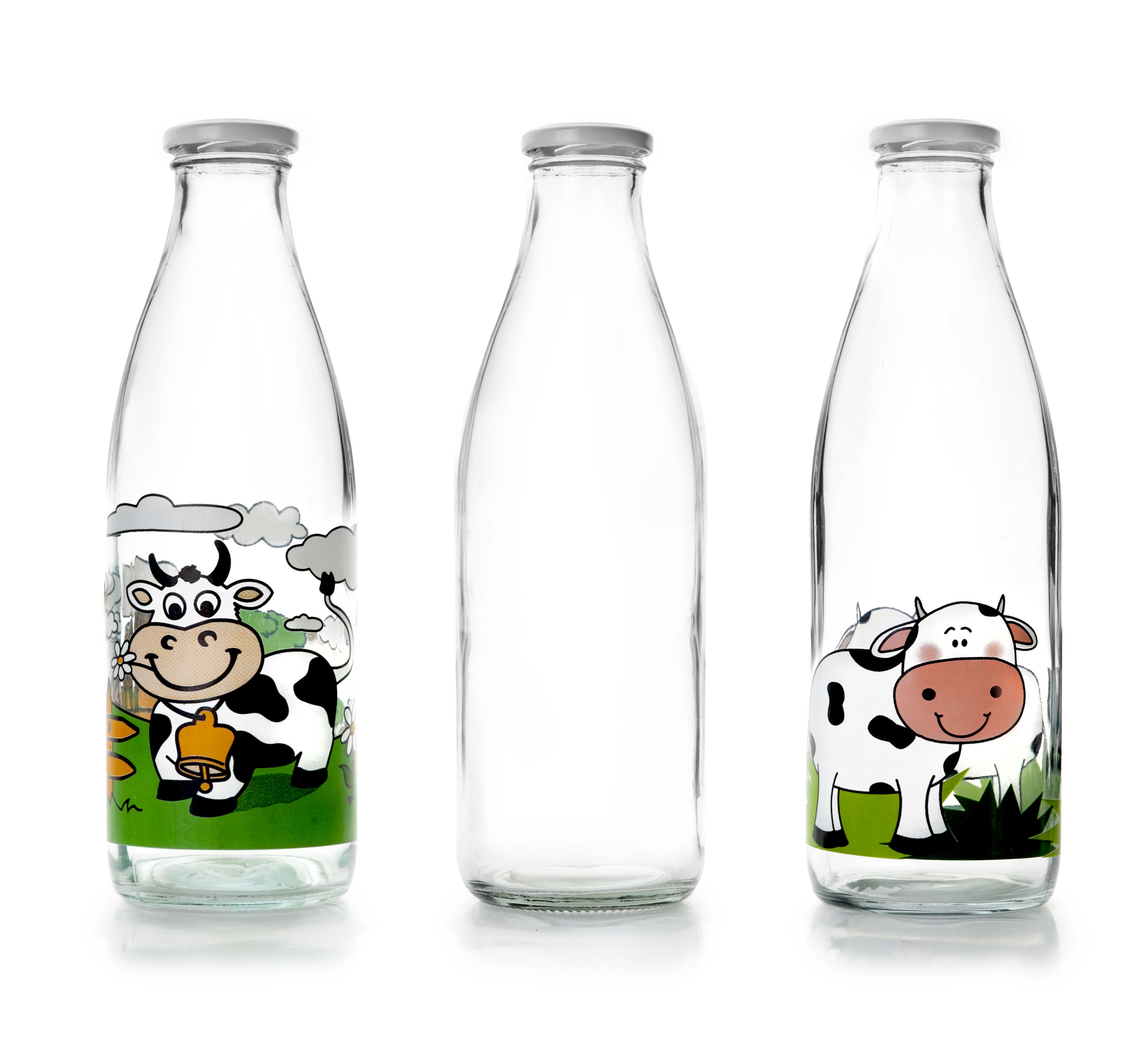 Botellas De Vidrio Decoradas Botellas De Lche Milk Bottles Ibili Glass Pinterest