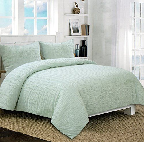 modern master bedroom with threshold seersucker duvet cover set | Pin by SweetyPie on Bedding | Textured duvet cover, Miller ...