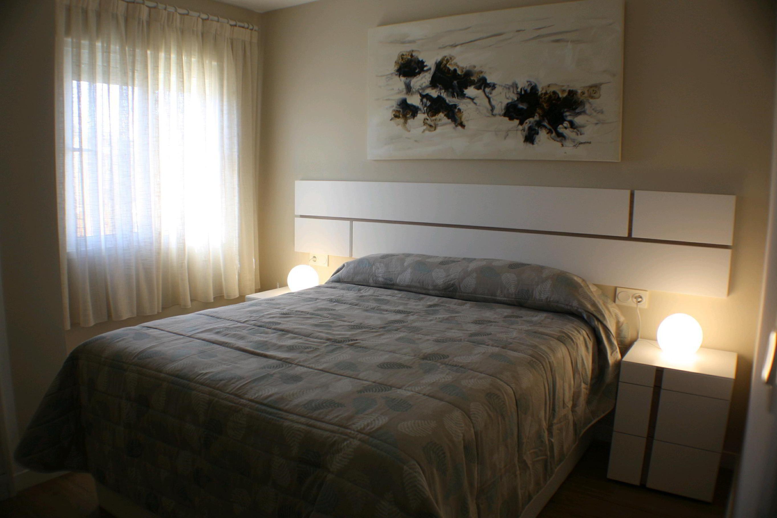 Habitación principal del apartamento, reforma apartamento Denia