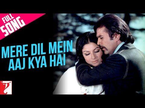Mere Dil Mein Aaj Kya Hai Full Song Daag Rajesh Khanna Sharmila Tagore Youtube Songs Song Hindi Rajesh Khanna