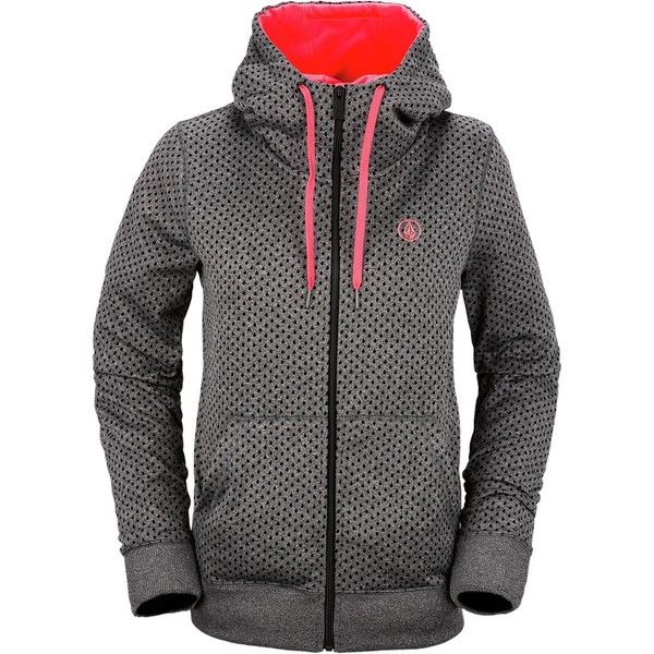free delivery online store for whole family Volcom Stone Dot Fleece Full-Zip Hoodie ($75) ❤ liked on ...