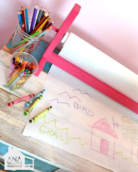 Ana White | Build a Craft Paper Roll Holder | Free and Easy DIY Project and Furniture Plans