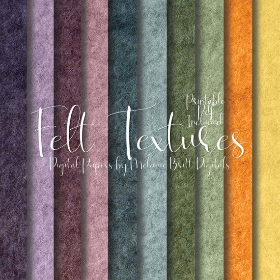 picture relating to Printable Textures titled AUTUMN Felt Textures Electronic Paper Printable Material Flannel
