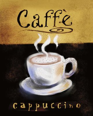 Anthony Morrow Caffe Cappuccino Art Print Poster