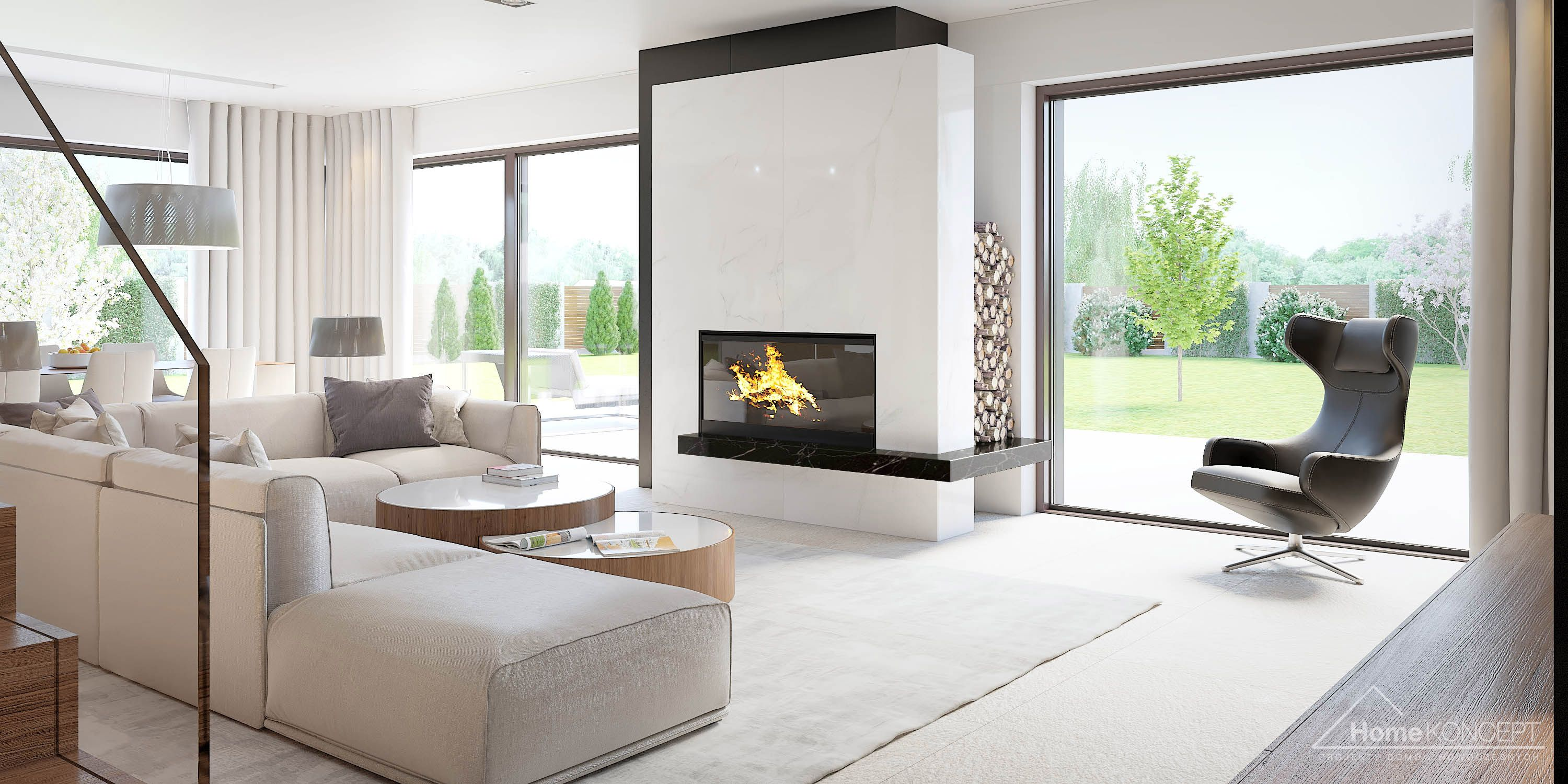 Homekoncept Living Room Decor Apartment House Rooms Home Fireplace