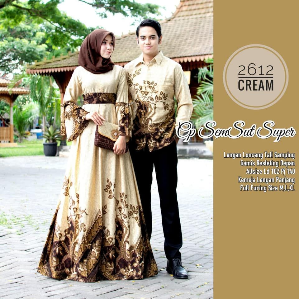Pin by Moh. Habibie on Baju Batik Couple Gamis  Batik, Accounting