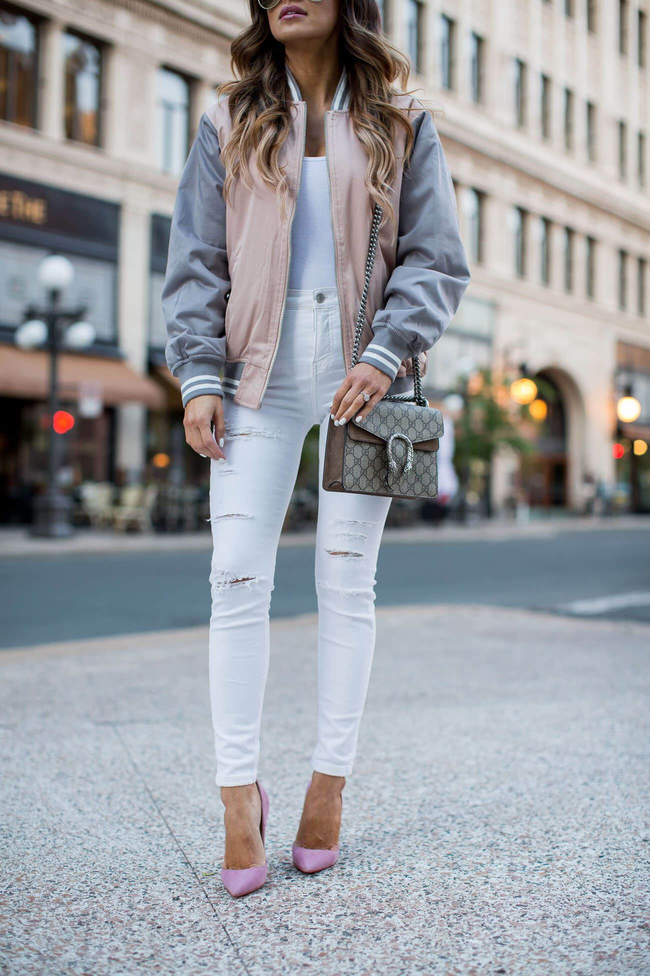 1c0800258115 fashion blogger mia mia mine in topshop white jeans and christian louboutin  pink so kate heels