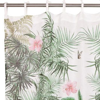 Zara Home Jungle Print Drapes To Use As Shower Curtain
