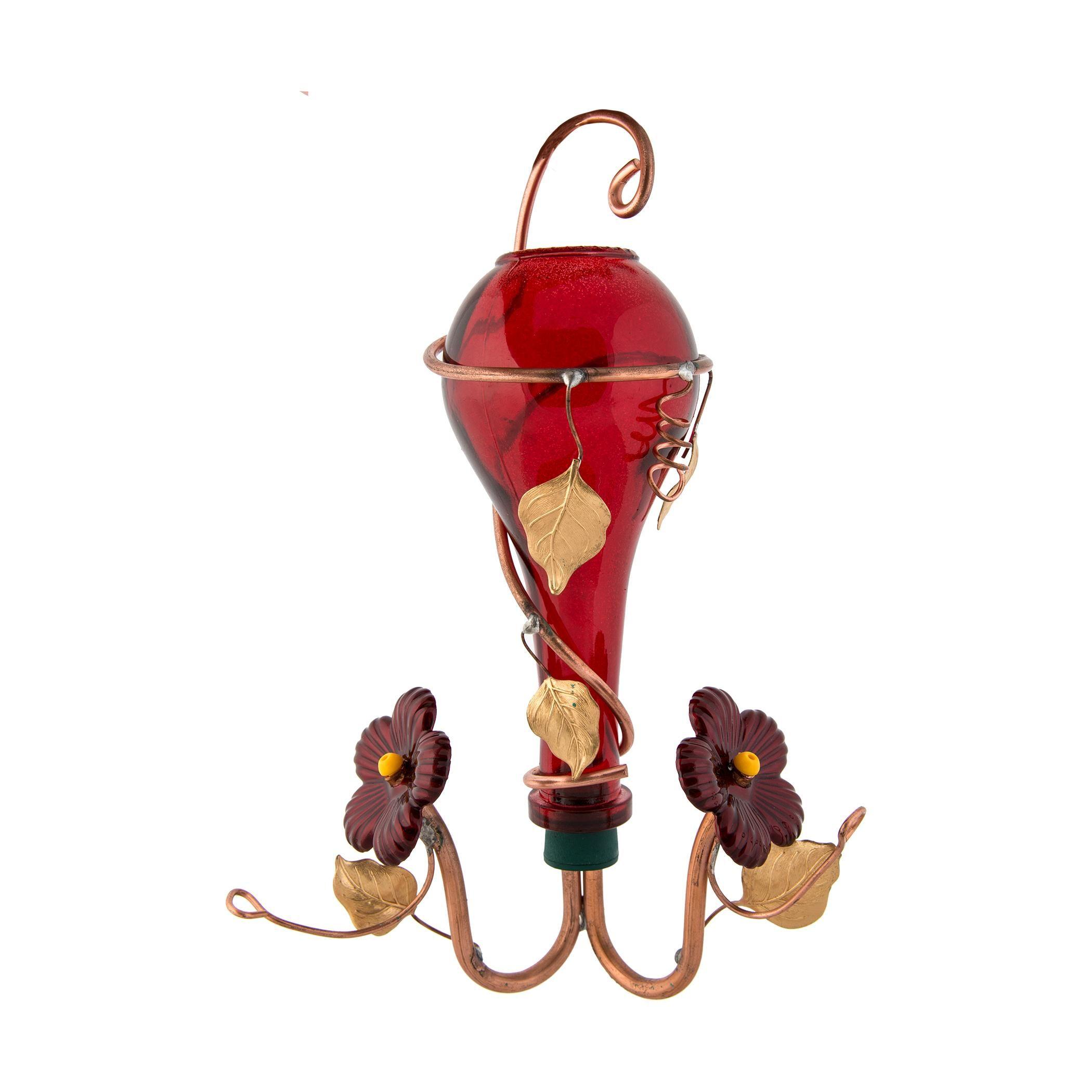 Perry's Enterprises Hummingbird Feeder Ruby Red