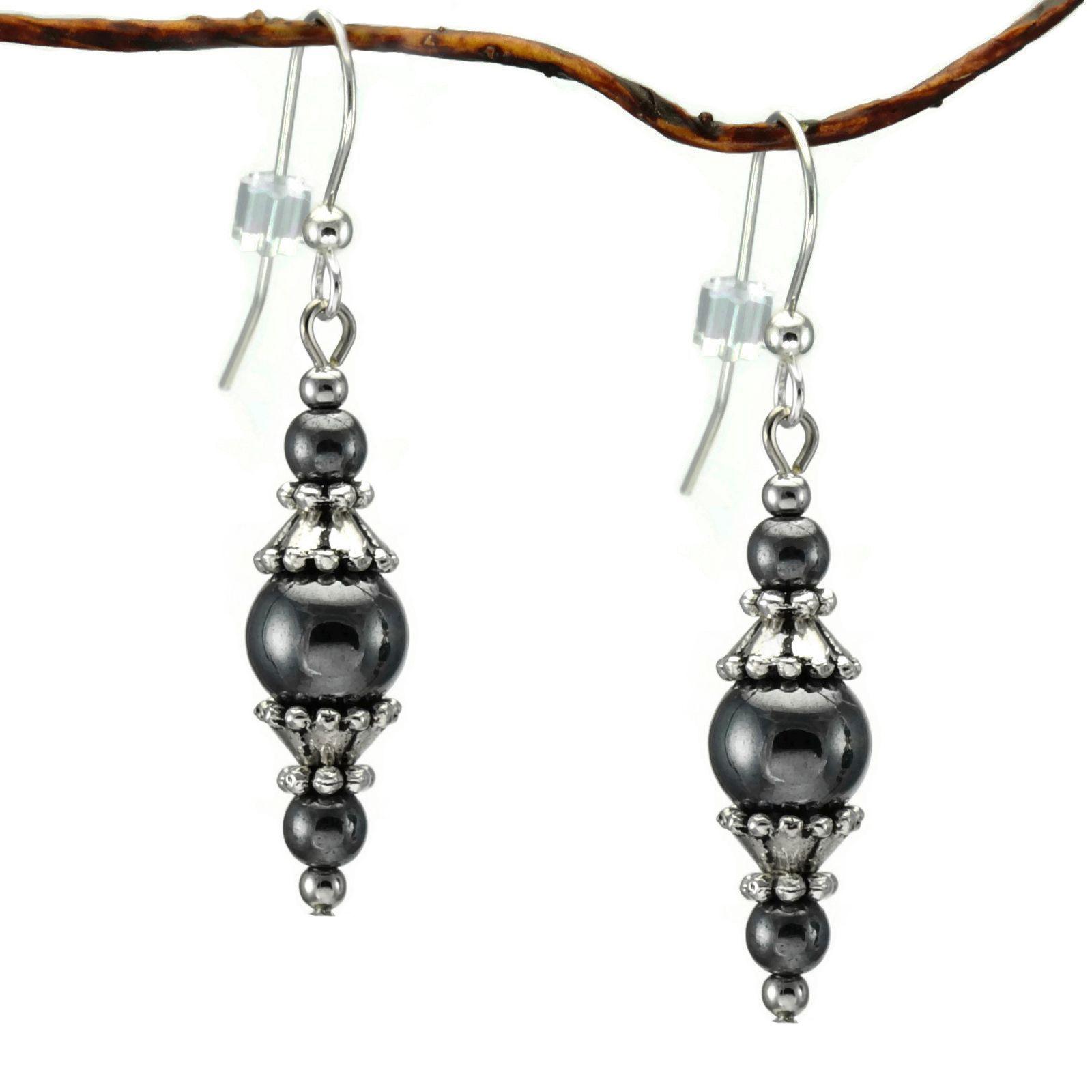 Handmade Jewelry By Dawn Round Hematite With Pewter