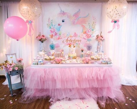 Unicornio 40 Bolsas De Dulces y Mantel Decoraciones Para Fiesta Cumpleaños Niñas