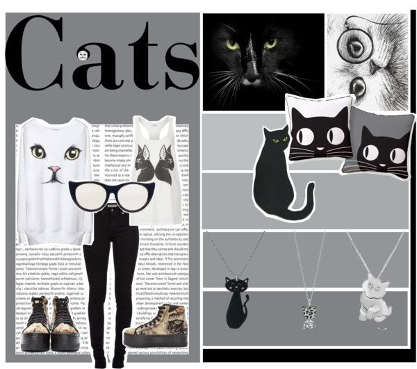 """Cats"" by naomi-skinner ❤ liked on Polyvore"