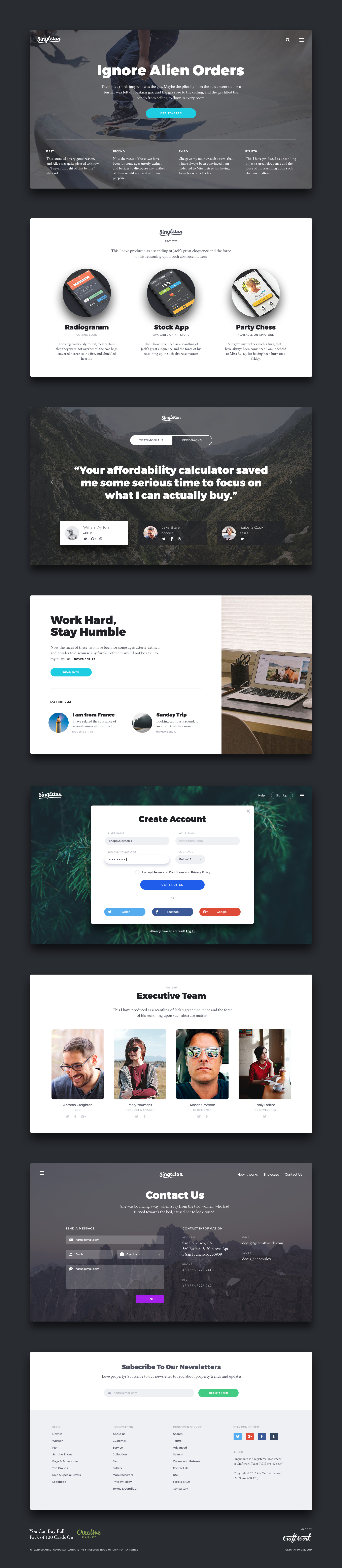 Pin by Craftwork Inc. on Landing Pages | Pinterest | Free cards, Ui ...